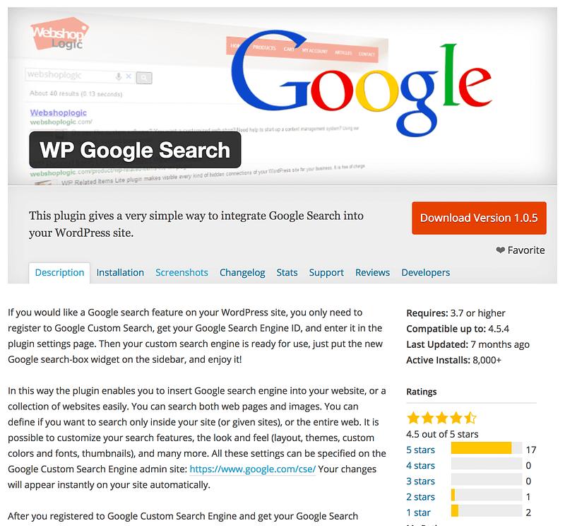WP Google Search