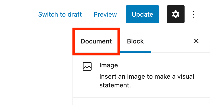 Document Tab
