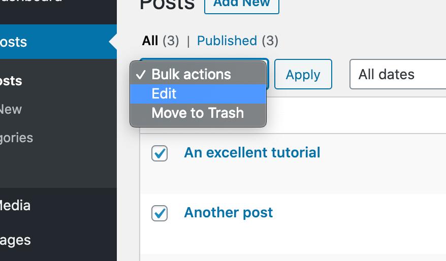 Bulk Edit Posts