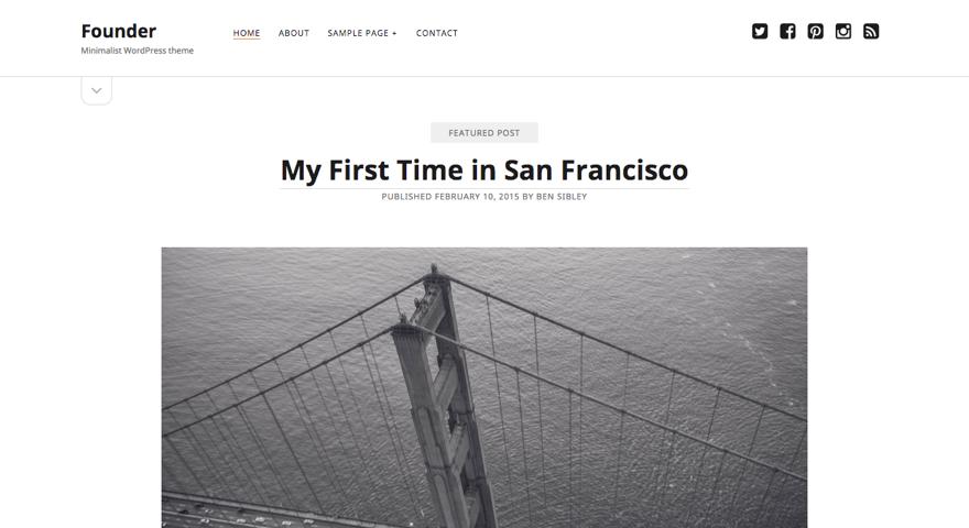 Founder WordPress theme