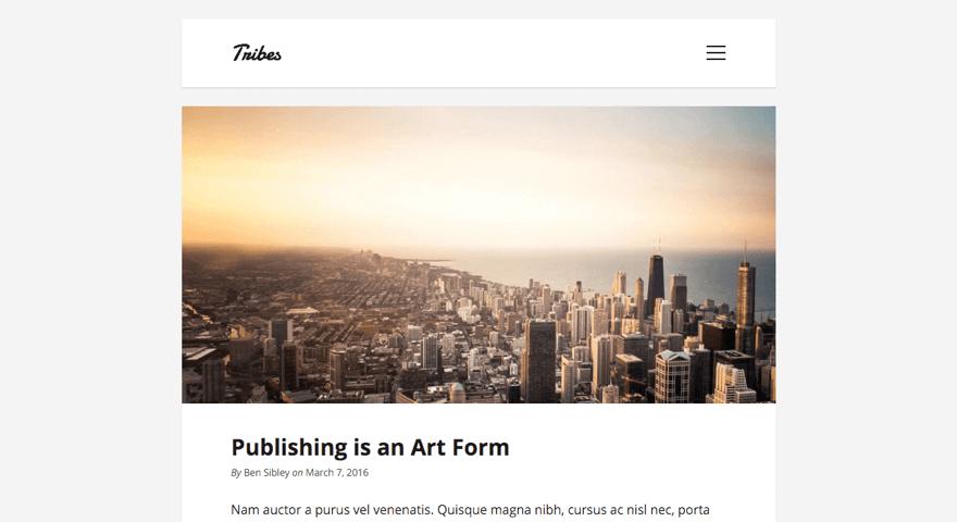 Tribes WordPress theme
