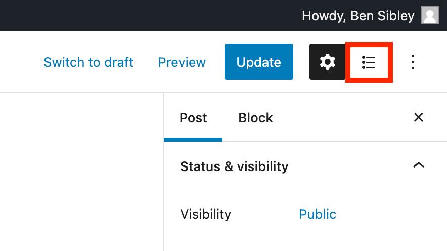 Checklist Toggle Button