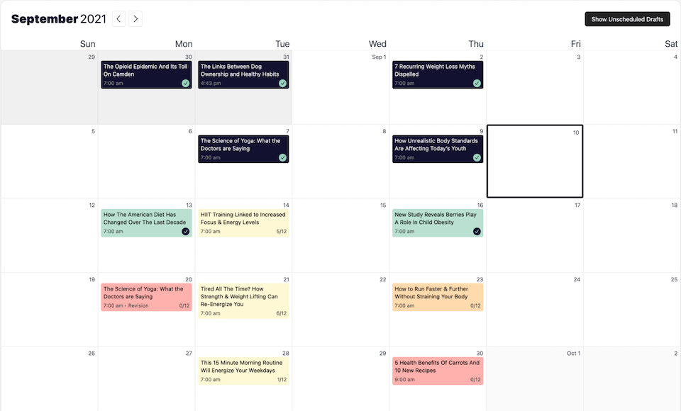 Strive Calendar