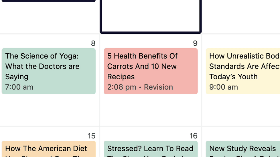 Revisions Calendar Label