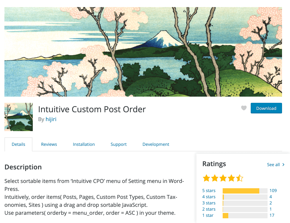 Intuitive Custom Post Order