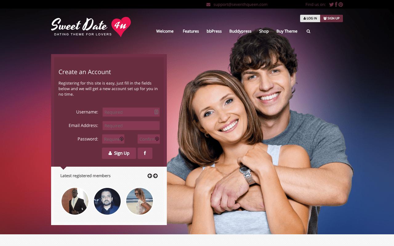 Tema WordPress Site Dating Prietenie gratuita