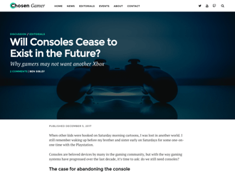 Chosen Gamer WordPress theme