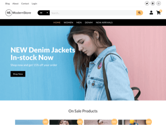 Modern Store WordPress theme