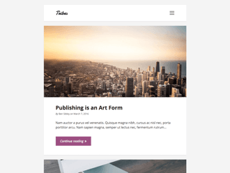 Tribes WordPress theme