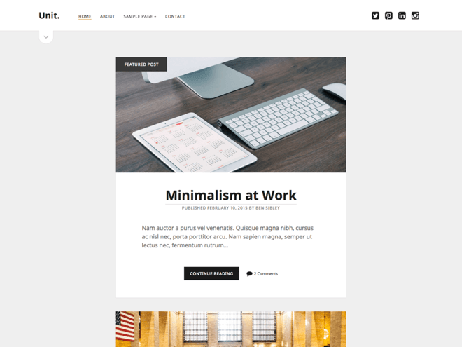 Unit WordPress theme