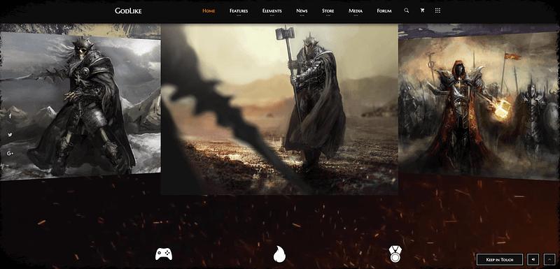 GodLike gaming theme