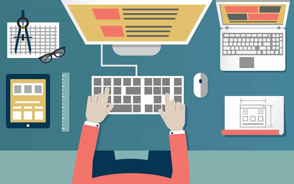 WordPress user editing website