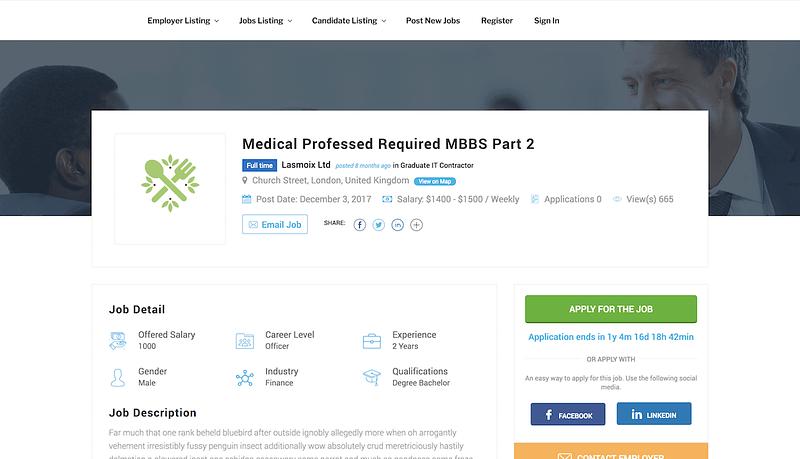 JobSearch Job Page