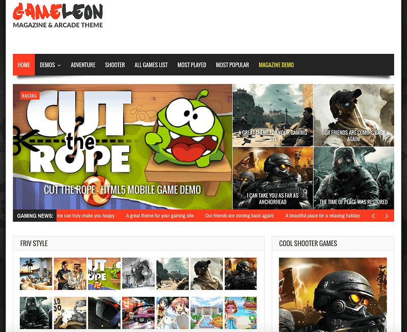 Gameleon gaming theme