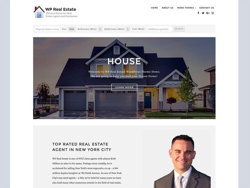 WP Real Estate theme