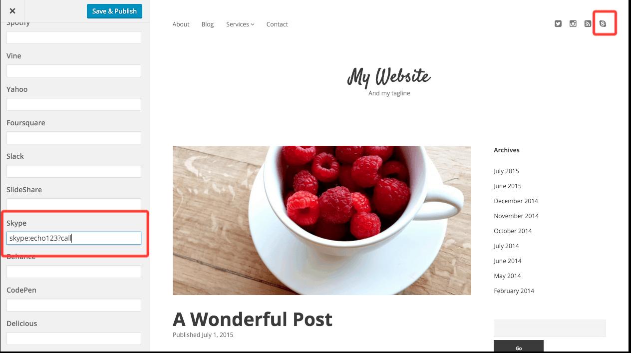 How to Add Skype Links to WordPress