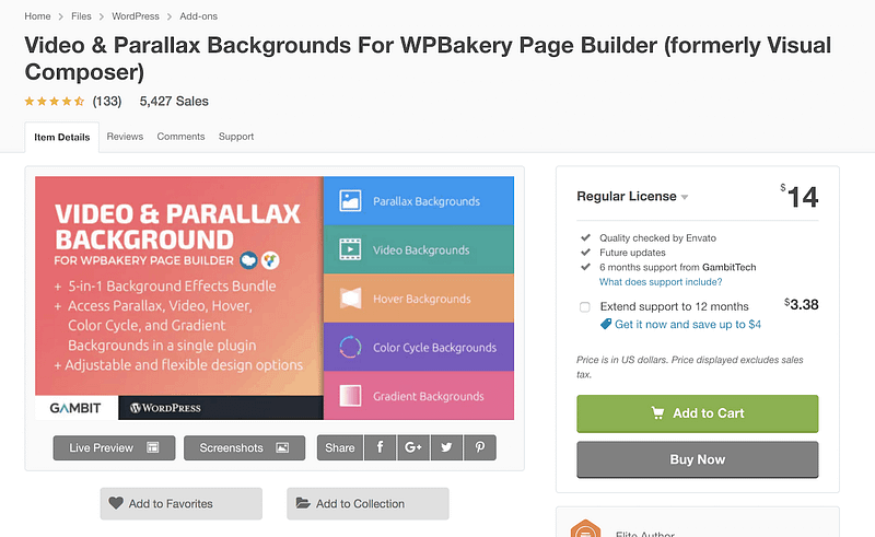 Video Parallax Backgrounds Wpbakery