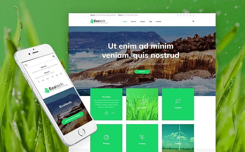 EcoTech WordPress theme