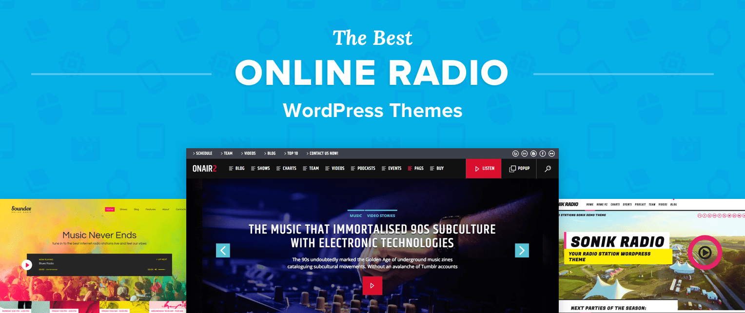 Online Radio Wordpress Themes
