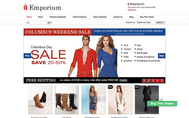 Emporium eCommerce theme