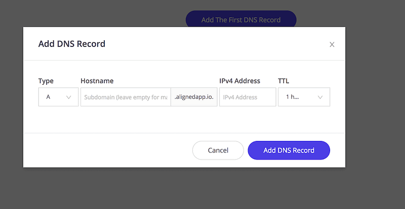 Kinsta Example A Record