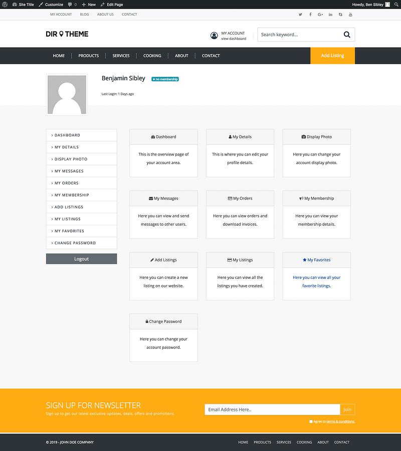 Directory Member Account