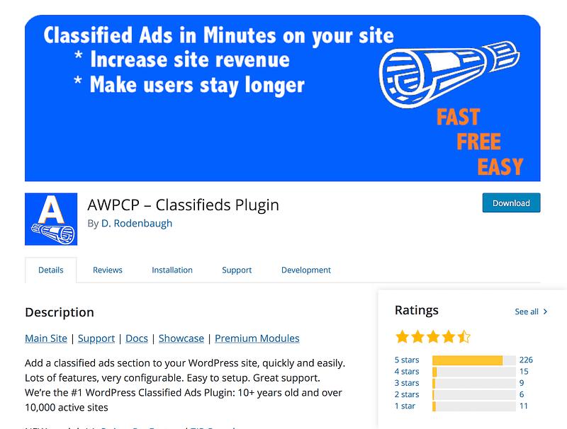 AWPCP – Classifieds Plugin
