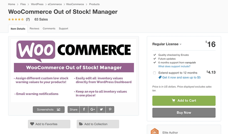 WooCommerce Out Of Stock Manager