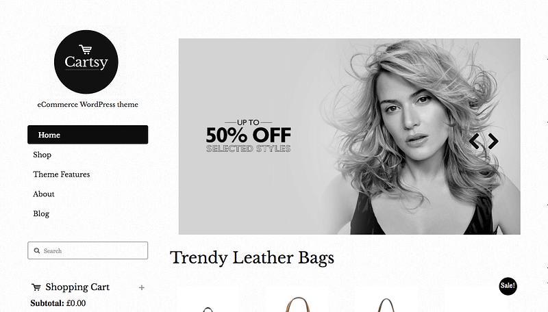 Cartsy eCommerce theme