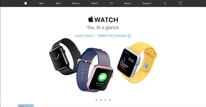 screenshot of Apple.com