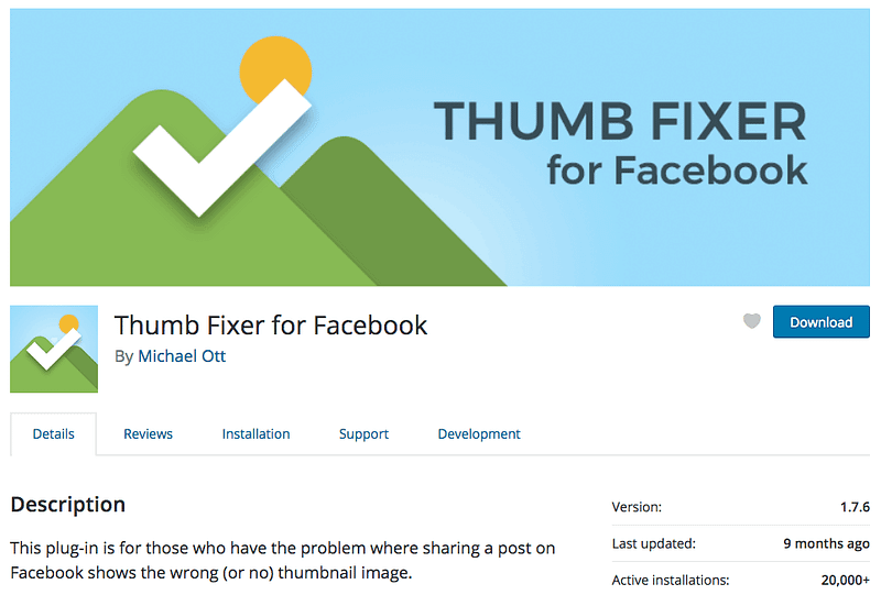 Thumb Fixer for Facebook plugin on wordpress.org