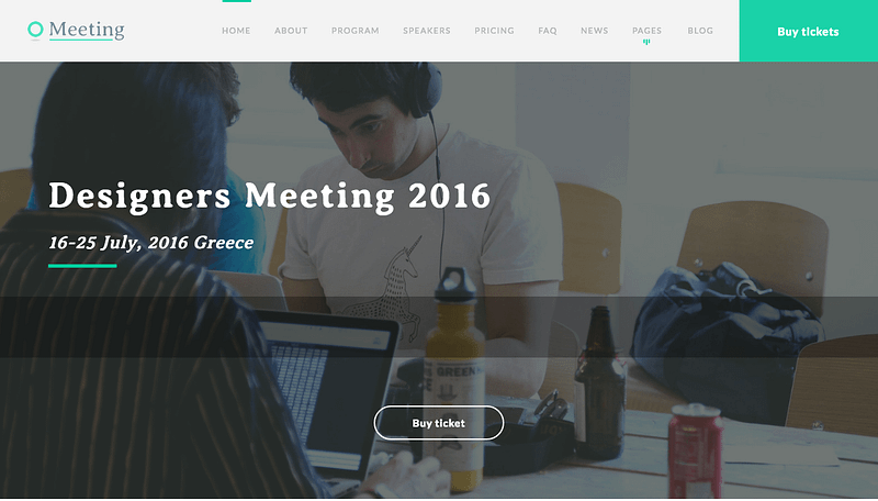 Meeting conference WP theme