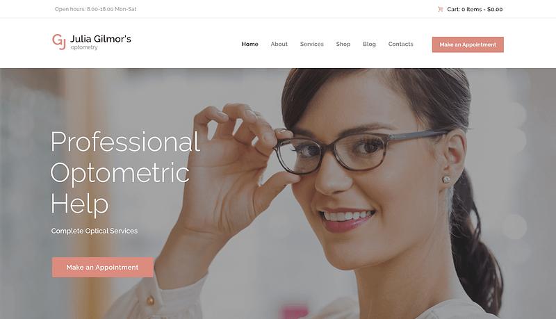 Optometry WordPress theme