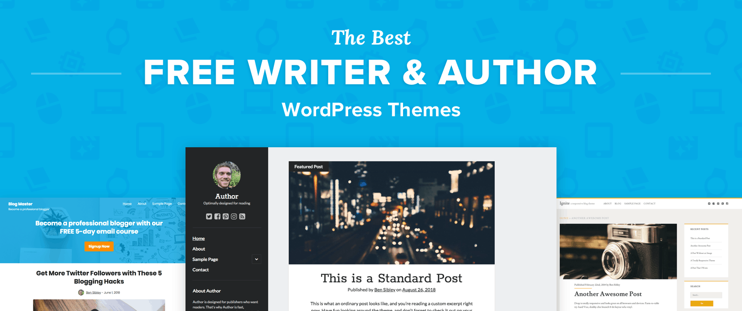 Free Writer WordPress Themes