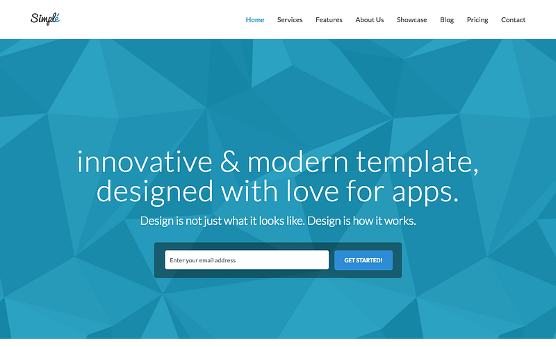 Simple bootstrap theme