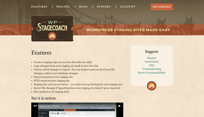 WP Stagecoach website