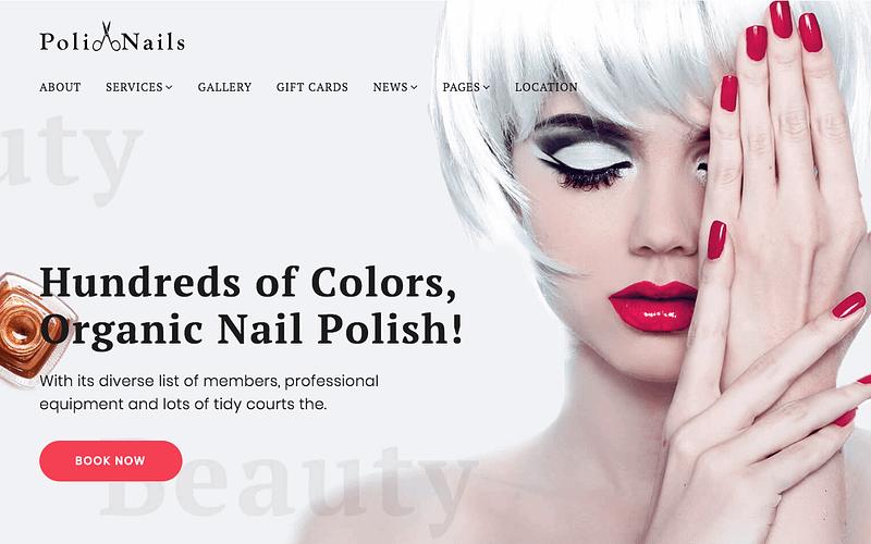 PoliNails nail salon theme