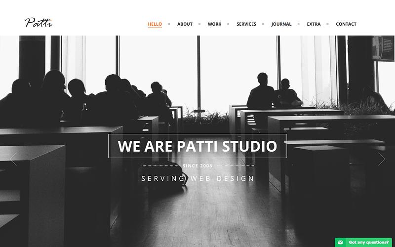 Patti one page WordPress theme