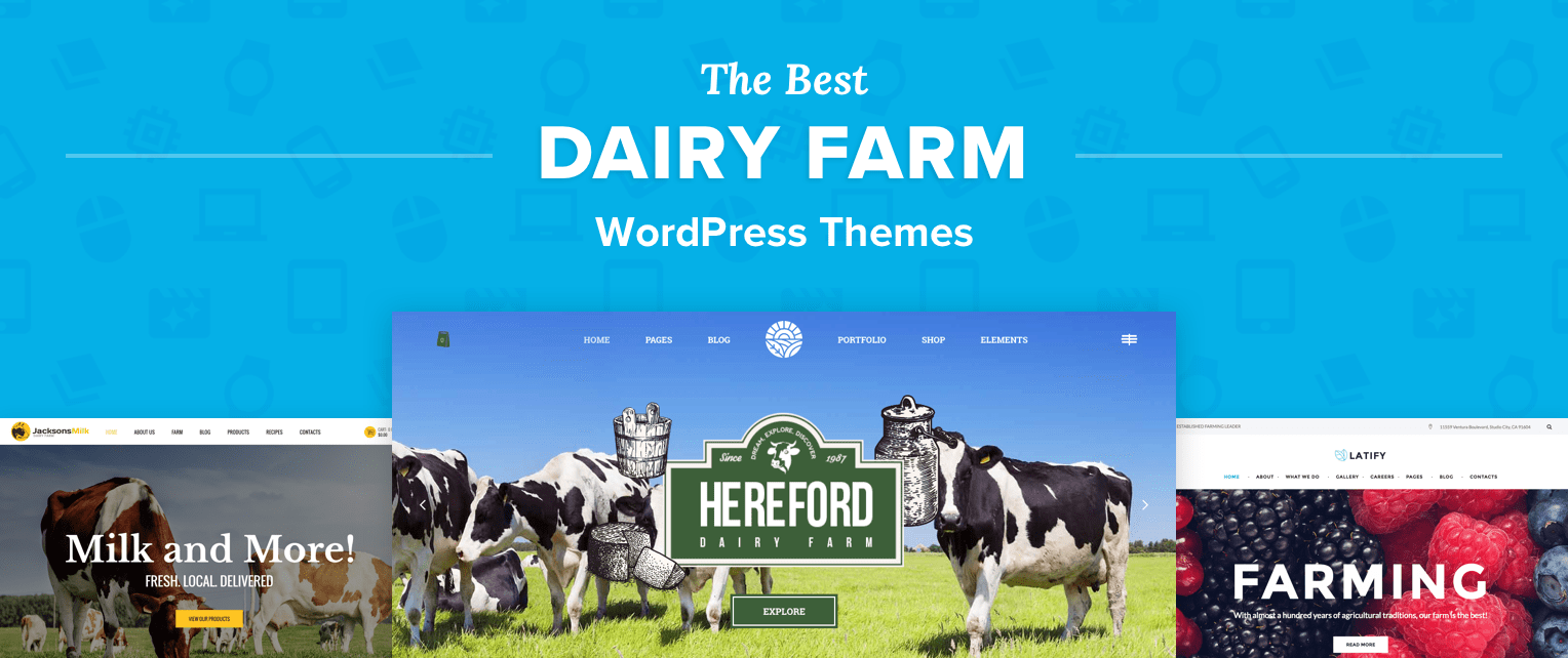 Dairy Farm WordPress Themes