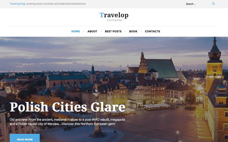 Travelop travel blog theme