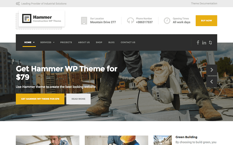 Hammer carpentry theme