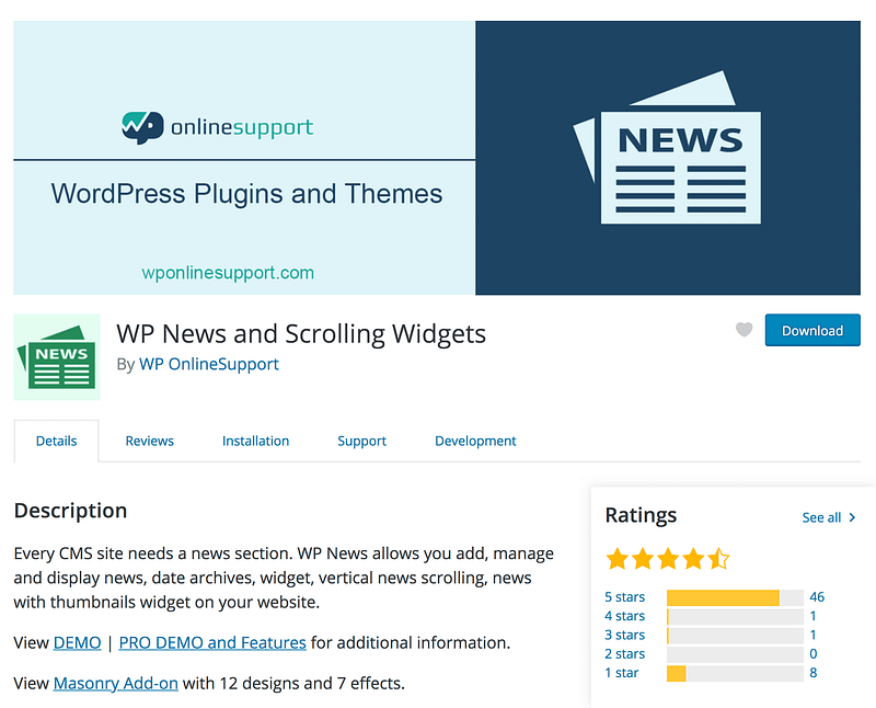 WP News Scrolling Widgets