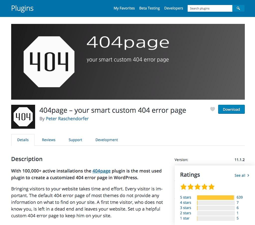 404 Page Plugin