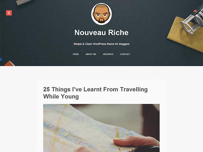 screenshot of the Nouveau Riche theme