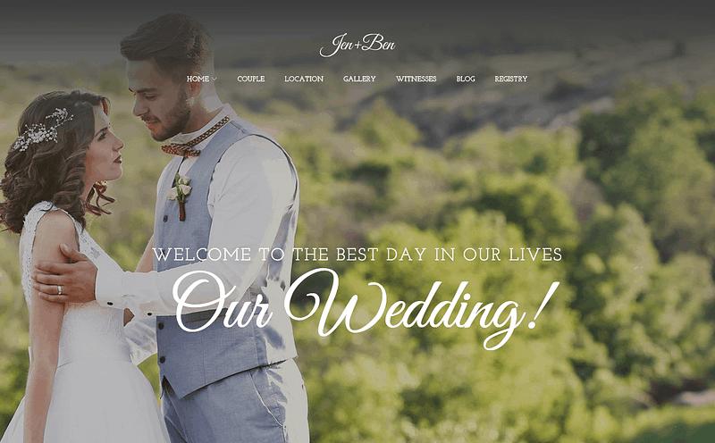 Jen+Ben wedding planner theme