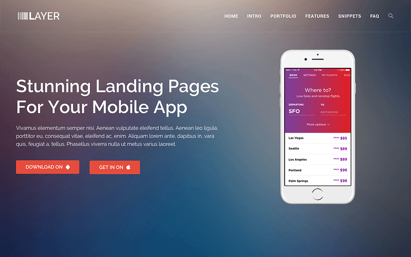 Layer one-page theme