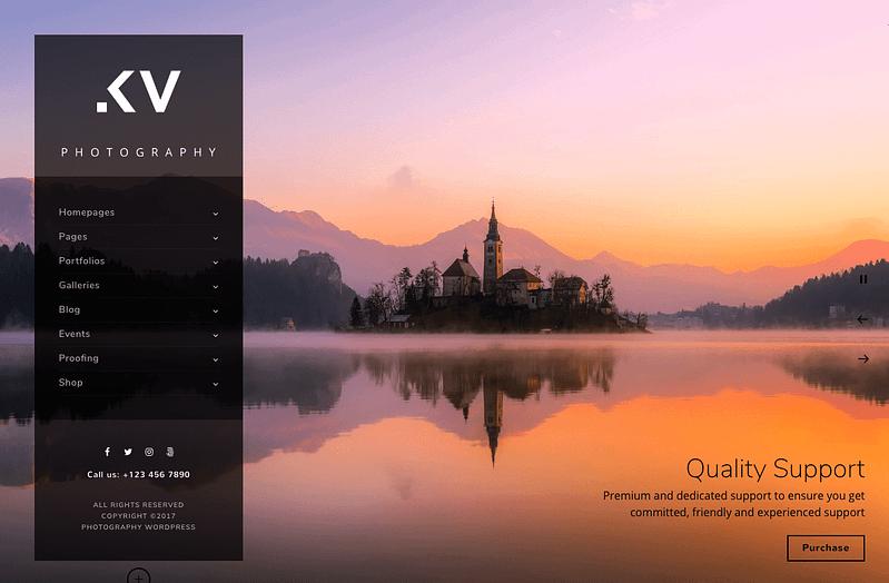 Kreativa vertical menu theme