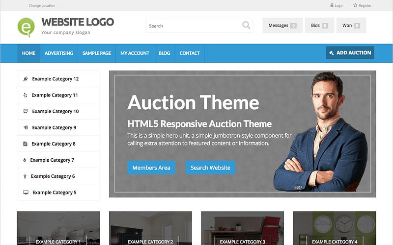 Online Auction Theme