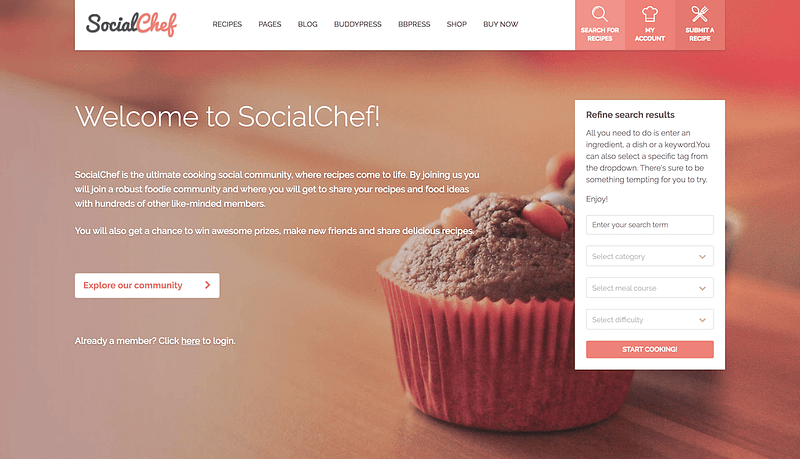 SocialChef recipe sharing site