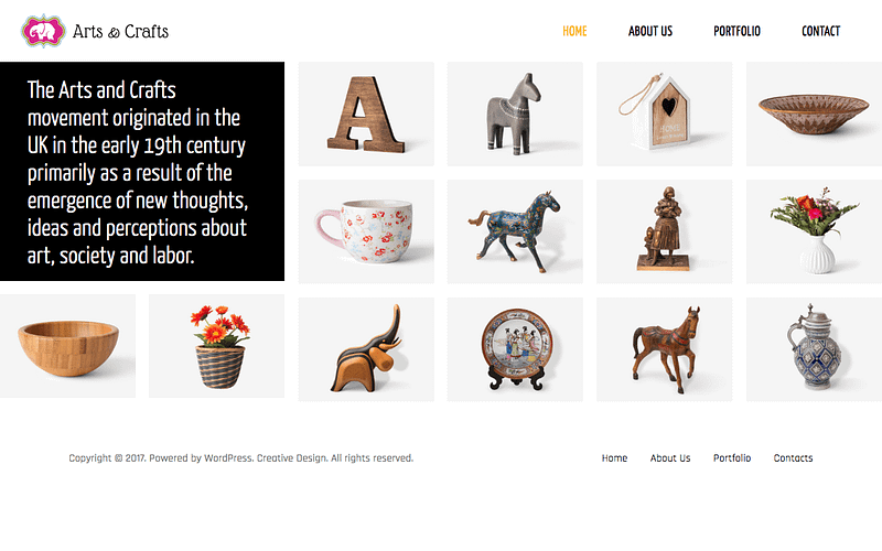 Crafts & Art theme